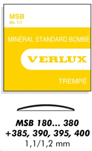 MSB VERRE MINERAL  STANDARD BOMBE EP 1.1 MM